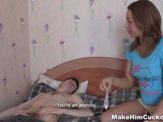 Göra honom hanrejen - teeny fabrikat henne bf en hanrejen