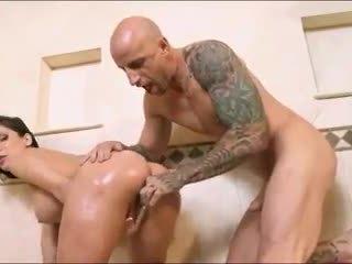 brunette, booty, sex toys
