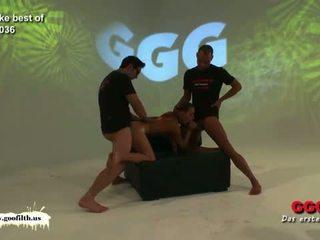 German Goo Girls: Filthy German whore gang banged and jizzed