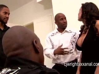 Lisa ann - senhora milf gangbanged por blacks guy