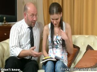 Lewd Female Got Laid By Perverted Mature Teacher.
