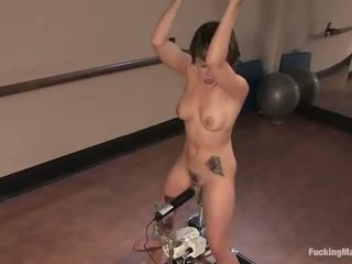 Legs Are Wide Open And A Machine Goes Hard In That Labia