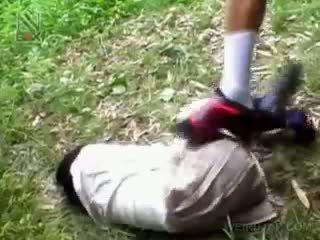 Fragile Asian Schoolgirl Getting Brutally Fucked Outdoor