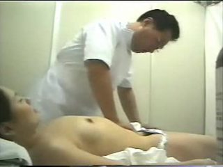 brunette, spycam, massage