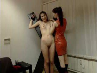 Lesbianas domina session en cámara