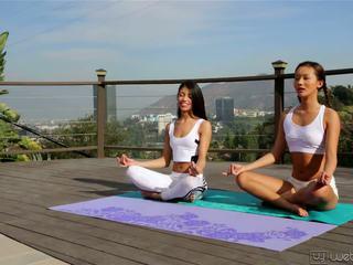 Alina Li and Veronica Rodriguez - My First Yoga Class