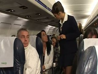 Keras seks dengan sangat panas stewardesses