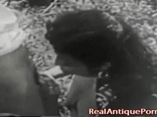 1915 loca antiguo al aire libre porno!