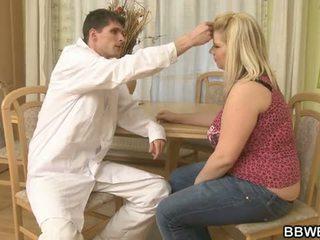 의사 bangs 그의 지방 환자