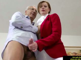 Brits initiate pussyfucked by an umur mans huge jago