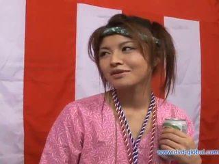Yuzuru Japaneseasian beauty is talking about sex
