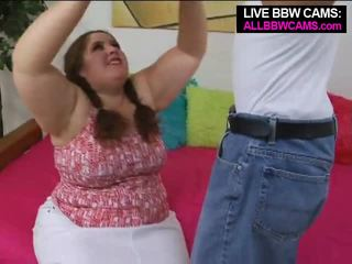 Talented grasso bella e grassa (bbw) superstar swallows parte 1