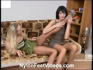 fetysz stóp, pończochy seks, sexy nylon legs and feet