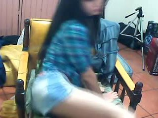 Luscious Brunette Babe Teasing On Cam