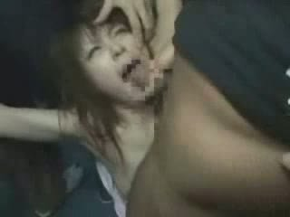 japonais, fille, groped, brutally