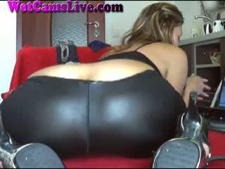 Hot Brunette Webcam Girl Anal Dildo
