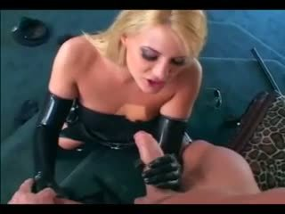 Delilah Stone - Sexy blonde female cop in uniform and latex gloves fucking a guy