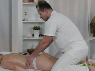 hottest brunette nice, fucking, rated masseur great