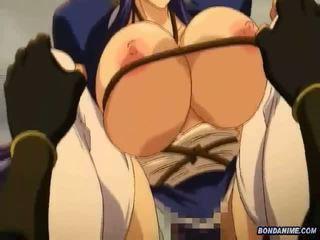 Pechugona hentai chica amarrada y rammed deeply en th