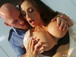 brunette, big dicks, blowjob, beautiful tits