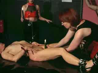 Slave Brunette being sexaully aroused
