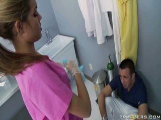 Amazing Slutty Nurse Licks Taylor's Tackle