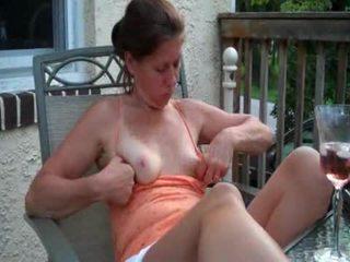 Milf amateur flashing tits hairy pussy panties