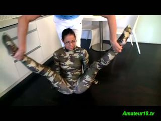 spandex gymnast teen loves passive sex stretching
