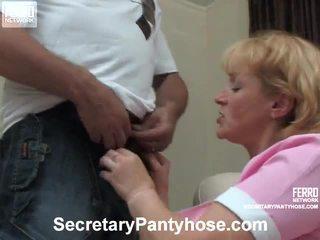 Emilia And Desmond Office Hose Porn Video