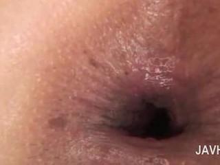 Asiática anal ejaculação interna em close-up com nu hooters miúda