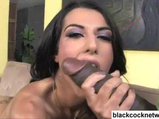 Lou Charmelle interracial blowjob