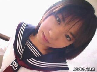 Teenaged японки смесени момичета момчета gives тя първи cocksuck