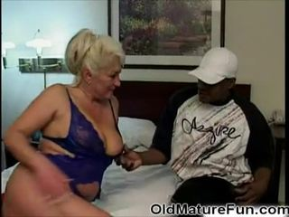 Black guy fuck old mom with big boobs Video