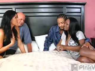 Wife Swapping Put The Spark Back Into The Summer S Marriage So They Were Hard Wet And Ready To Give It Another Go The Fire S Wanted To Swap With Another Black Couple But After One Look At India Summer S Pretty Pink Pussy They Decided To Give White Meat A