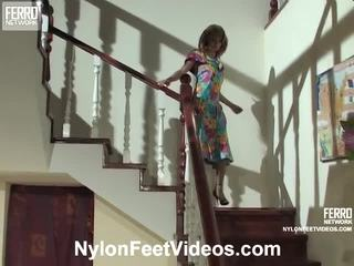 Alice And Mike Mindblowing Pantyhose Feet Action