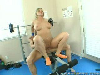 Nikki Sexxx Pumping Her Muff On A Hard Meat Jock At Tthat Guy Gym