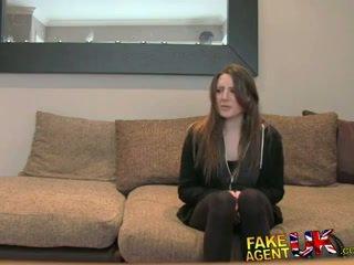 Fakeagentuk posh युवा ब्रिटिश गर्ल gets एनल क्रीमपाइ कॅस्टिंग