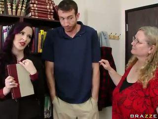 MILF boss Caroline Pierce gets a bit horny with his big cock Video
