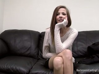 Puffy pussy and perky tits on the casting couch