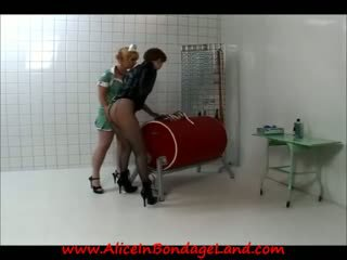 Prison Lesbian Medical Exam & Bondage Humiliation Punishment