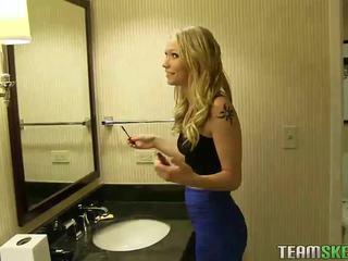 Hot blonde girlfriend home sex video