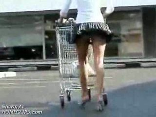 Girl temptation Has Buttplug Up round ass While Shopping