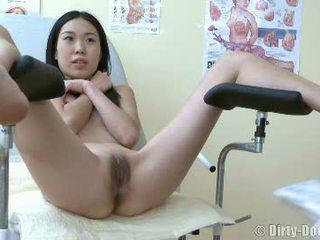 vagina, doctor, speculum, asian