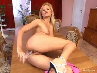 Sweet Sophie Paris Shoving Marital Device Into Her Wide Pussy