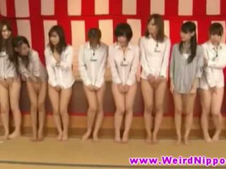 Oriental hotties in weird asian game show