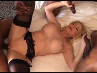 Kinky mature wants an interracial gangbang