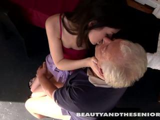 Teen cutie gets fucked by senior Bruce