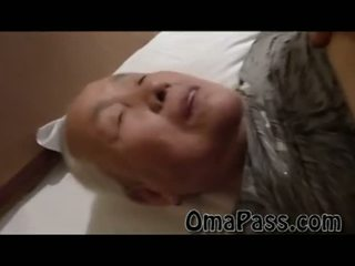 Very old fat Japanes granny fucking so hard with one man Video