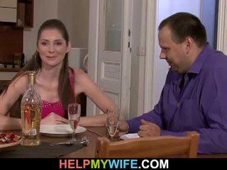 อ้วน สามี pays the พิซซ่า guy tot เพศสัมพันธ์ ของเขา เมีย
