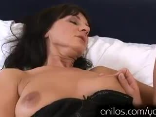 Horny mature cougar teaches young stud to fuck